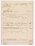 1887 July 30: Voucher, U.S. v. Jonathan Mackey and Jake Vann, larceny; Tufts, commissioner; includes cost of mileage and feeding prisoner