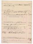 1887 August 4: Voucher, U.S. v. William Hornback, larceny; includes cost of mileage and feeding prisoner; B.C. Cantrell, deputy marshal; Stephen Wheeler, commissioner; Thomas Caps, J.L. Snow, witnesses; Joseph Everidge, posse comitatus