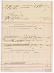 1887 July 30: Voucher, U.S. v. J. Banther, assault; includes cost of feeding prisoner and mileage; Tufts, commissioner