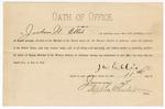 1887 January 11: Oath of Office, of Jackson W. Ellis, deputy marshal; Stephen Wheeler, clerk