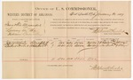 1887 January 31: Voucher, U.S. v. Isaac and Tom Alexander, larceny; includes cost of per diem and mileage; J.H.W. White, Luther Foster, witnesses; John Carroll, U.S. marshal; Stephen Wheeler, commissioner