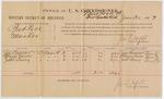 1887 January 31: Voucher, U.S. v. Bud Kell, murder; includes cost of per diem and mileage; Joe Caesar, Major Vann, Jess Lowry, witnesses; John Carroll, U.S. marshal; J.M. Tufts, commissioner