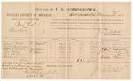 1887 January 31: Voucher, U.S. v. Bud Kell, murder; includes cost of per diem and mileage; Francis Miller, James Buchanan, Albert Farmer, Russell Vann, Cherokee Thornton, witnesses; John Carroll, U.S. marshal; J.M. Tufts, commissioner