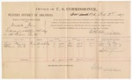 1887 February 7: Voucher, U.S. v. Doodle Dan, Introducing and selling whiskey; includes cost of per diem and mileage; Lewis Weaver, Thomas Kirk, witnesses; John Carroll, U.S. marshal; E.B. Harrison, commissioner