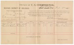 1887 February 8: Voucher, U.S. v. Kinney McNair, introducing and selling whiskey; includes cost of per diem and mileage; John R. Leach, David S. Williams, witnesses; John Carroll, U.S. marshal; E.B. Harrison, commissioner