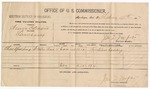 1887 February 9: Voucher, U.S. v. Henry C. Davis, larceny; includes cost of per diem and mileage; Charles Spalding, witnesses; J.M. Tufts, commissioner