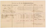 1887 February 10: Voucher, U.S. v. Herta Fela, introducing spirituous liquors into Indian Country; includes cost of per diem and mileage; Thomas Wilson, James Hill, Dick Brunet, Goliah, witnesses; John Carroll, U.S. marshal; Stephen Wheeler, commissioner