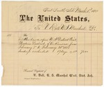 1887 March 1: Voucher, to V. Dell, U.S. Marshal; includes cost of attendance in U.S. district court