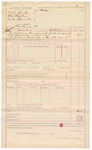 1887 March 18: Voucher, U.S. v. T.J. Walter, Rex Collier and M.M. Edminston, contempt; W.H. Cravens, deputy marshal; includes cost for delivering summons to defendants