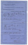 1887 March 3: Writ, of execution, U.S. v. Aaron Butler, Roland Nave, Dennis Hendricks, Elias Johnson, and Price Cochran; John Carroll, U.S. marshal; Isaac C. Parker, Judge; Stephen Wheeler, clerk; S.A. Williams, deputy clerk