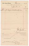 1887 March 3: Voucher, to John Scovile; includes cost for hauling dead body from U.S. jail to Fort Smith cemetery; John Carroll, U.S. marshal