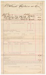 1887 March 5: Voucher, U.S. v. H.F. McDaniel; W.H. Cravens, deputy marshal; includes cost of mileage and service