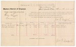 1887 March 26: Voucher, U.S. v. One Charlie, larceny; includes cost of per diem and mileage; Westley C. Trent, Danice Watson, witnesses; John Carroll, U.S. marshal; J.M. Tufts, commissioner