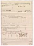 1887 May 10: Voucher, U.S. v. John Bohanan, murder; includes cost of subpoena for witnesses; J.W. Everidge, deputy marshal; Hickman Miller, Dick Young, Henry Pickens, Alford Miller, J.P. Turnball, witnesses