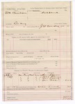 1887 April 2: Voucher, U.S. v. William Christian, larceny; includes cost of mileage and subpoenas for witnesses; J.W. Everidge, deputy marshal; Sam Alvison, Noah Alvison, Dave Alberty, Sam Oaks, witnesses