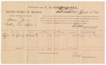 1887 April 4: Voucher, U.S. v. William Davis, robbing post office; includes cost of per diem and mileage; Edgar H. Looney, witness; E.B. Harrison, commissioner; John Carroll, U.S. marshal