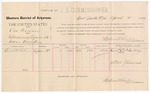 1887 April 5: Voucher, U.S. v. One Shawney, introducing spirituous liquors into Indian Country; includes cost of per diem and mileage; Lewis McGilburry, witness; John Carroll, U.S. marshal; Stephen Wheeler, commissioner