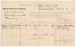 1887 April 12: Voucher, U.S. v. Lark Cumins, larceny; includes cost of per diem and mileage; George T. Pendleton, William H. Leeper, Jonathan J. Kinney, witnesses; John Carroll, U.S. marshal; Jonathan Q. Tufts, commissioner