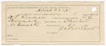 1887 April 25: Voucher, U.S. v. William T. Davis, larceny; includes cost of railroad ticket and hotel bill; J.C. Carroll, deputy marshal; Stephen Wheeler, commissioner; J.C. Pettigrew, guard
