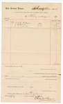 1887 August; Voucher, to Shelby and Mayers; includes cost for hose, overalls, and drawers; John Carroll, U.S. marshal