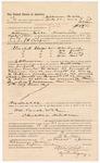 1887 August 11: Voucher, to William Noble, of Fayetteville, Arkansas, for assisting J.H. Cooper, deputy marshal, in U.S. v. William Lynch, U.S. v. William Woods, U.S. v. Tom Sunday, and U.S. v. William Bat; E.B. Harrison, commissioner; Stephen Wheeler, clerk; Ed Haglin, deputy clerk; John Carroll, U.S. marshal