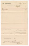 1887 August 10: Voucher, to W.A. Ayers and Co.; includes cost of good; John Carroll, U.S. marshal