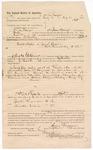 1887 September 1: Voucher, to Sam Frazier, of Siloam Springs, Arkansas, for assisting B. Connelly, deputy marshal, in U.S. v. Jonathan Rogers and U.S. v. Charles Choonstudy et al; John Carroll, U.S. marshal; E.B. Harrison; Stephen Wheeler, clerk