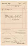 1887 April 6: Voucher, to Williams Bro.; includes cost of blankets for U.S. jail; John Carroll, U.S. marshal