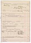 1887 September 9: Voucher, U.S. Grand Jury subpoena; B. Connelley, deputy marshal; Mark Hicks, Daniel Dameson, Russell Cravens, William Heath, Robert Brock, witnesses
