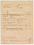 1887 September 14: Voucher, U.S. v. Sheridan Huggans, larceny; includes cost of mileage and feeding prisoner