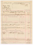 1887 March 21: Voucher, U.S. v. Eddie Roc (alias Eddie Watkins), larceny; includes cost of mileage and feeding prisoner; B.T. Kill, deputy marshal; Stephen Wheeler, commissioner; John T. Kerr, James Bay, witnesses
