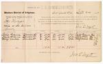 1887 September 24: Voucher, U.S. v. James Thomas, rape; includes cost of per diem and mileage; Julia Grayson, Nancy Grayson, Mary Daniels, witnesses; Jonathan Q. Tufts, commissioner; John Carroll, U.S. marshal