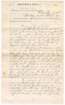 1887 November 7: Venire facias, commanding the summons of William Bryant, J.G. Cardon, Nathan D. Ingram, Jesse Kemp, John R. Ramsy, W.B. Choate, A.H. Brooks, William M. Whittenberg, E.P. Forehand, E.B. Grayson, A.C. Wagoner, E.T. Smith, A.G. Savage, Henry Bangs, J.B. Jamison, J.P. Mathews, C.P. Massey, John Fisher, H.H. Barron, Daniel Thompson, William Garland, George W. McAtee, C.K. Burney, for grand jurors; James Jenkins, F.L. Shaw, Casey Parker, F.A. Whitney, D. Barton, John Buchannon, William A. Cameron, L.A. Rich, Perry Stafford, William L. Fincher, William Bugg, Sanford H. Blagg, James N. Meadows, H.H. McDaniel, S.B. Meek, G.W. Stegall, S.N. May, J.H. Rackerry, Robert Spoon, Granville Williams, L.C. Gammell, John Moore, J.D. McGreggor, James E. Wood, James Scholtz, H.M.C. White, J.R. Henderson, Samuel Bradley, J.A. Nance, Thomas A. Fleenor, J.C. Bethel, James A. Wilson, F.H. Rizer, J.M. Lively, L.G. Chastine, John Dunkin, T.I. Teagle, as petit jurors; L.B. Plummer, William Flippin, W.H. Mason Jr., Albert Shuler, J.H. Harris Jr., George Gann, John Cox, George W. Davis Jr., W.A. Carter, U. Bonebrake, Thomas Spindle, William C. Raper, George Ledbetter, J.M. Oathout, George L. Kimball, Peter B. Allen, Frank Pease, Nelson Clannts, E.B. Hassett, James Malone, as alternate jurors; Stephen Wheeler, clerk and jury commissioner; Ed Haglin, deputy clerk; Isaac C. Parker, judge; B.F. Atkinson, jury commissioner