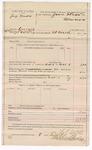 1887 October 8: Voucher, U.S. v. Jay Wade, larceny; includes cost of mileage and feeding prisoner; L.P. Isbell, deputy marshal; Jonathan Q. Tufts, commissioner; Stephen Wheeler, clerk