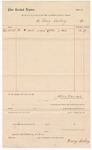 1887 October 25: Voucher, to Henry Gacking; includes cost of wood for U.S. court house; John Carroll, U.S. marshal