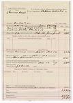 1887 November 10: Voucher, U.S. v. Thomas Paul, introducing and selling spiritous liquor; includes cost of mileage and feeding prisoner; John Phillips, deputy marshal; Stephen Wheeler, commissioner; J.H. Price, posse comitatus