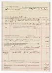 1887 November 2: Voucher, U.S. v. Thomas Walls, assault with intent to kill; includes cost of mileage and feeding prisoner; John Phillips, deputy marshal; Stephen Wheeler, commissioner; A.F. Krebbs, witness; John Morgan, posse comitatus
