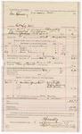 1887 December 8: Voucher, U.S. v. George Spencer, retail liquor dealer; includes cost of ferriage, supper, and lodging; B. Connelley, deputy marshal; John Carroll, U.S. marshal; William Heath, Rufus Cravens, Robert Brock, witnesses