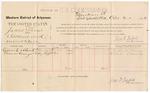1887 April 21: Voucher, U.S. v. James Shaw, assault with intent to kill; includes cost of per diem and mileage; Richard Adams, Thomas Cummings, witnesses; Jonathan Q. Tufts, commissioner; John Carroll, U.S. marshal