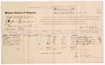 1887 November 17: Voucher, U.S. v. Jake Summons, larceny; includes cost of per diem and mileage; Jeffry Smith, Sammy Grayson, Richard Tucker, John Jefferson, witnesses; Jonathan Q. Tufts, commissioner; John Carroll, U.S. marshal