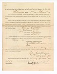 1886 May 5: Voucher, to George Carter, witness; includes cost of service as witness; John Carroll, U.S. marshal; Stephen Wheeler, clerk; S.A. Williams, deputy clerk; A.S. Vandeventer, chief deputy