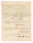 1886 May 8: Voucher, to William H. Perkins, witness; includes cost of service as witness; John Carroll, U.S. marshal; Stephen Wheeler, clerk; S.A. Williams, deputy clerk; A.S. Vandeventer, chief deputy