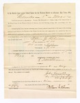 1886 May 8: Voucher, to William G. Robinson, witness; includes cost of service as witness; John Carroll, U.S. marshal; Stephen Wheeler, clerk; S.A. Williams, deputy clerk; A.S. Vandeventer, chief deputy