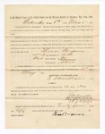 1886 May 22: Voucher, to Thomas Brigance, witness; includes cost of service as witness; John Carroll, U.S. marshal; Stephen Wheeler, clerk; S.A. Williams, deputy clerk; A.S. Vandeventer, chief deputy