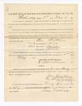 1886 May 5: Voucher, to Ben Watkins, witness; includes cost of service as witness; John Carroll, U.S. marshal; Stephen Wheeler, clerk; S.A. Williams, deputy clerk; A.S. Vandeventer, chief deputy
