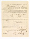 1886 May 6: Voucher, to Lewis A. Rosenthal, witness; includes cost of service as witness; John Carroll, U.S. marshal; Stephen Wheeler, clerk; S.A. Williams, deputy clerk; A.S. Vandeventer, chief deputy