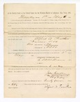 1886 May 6: Voucher, to Alfred A. Prather, witness; includes cost of service as witness; John Carroll, U.S. marshal; Stephen Wheeler, clerk; S.A. Williams, deputy clerk; A.S. Vandeventer, chief deputy