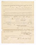 1886 May 7: Voucher, to Columbus M. Parks, witness; includes cost of service as witness; Stephen Wheeler, clerk; S.A. Williams, deputy clerk; A.S. Vandeventer, chief deputy; John Carroll, U.S. marshal