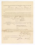 1886 May 7: Voucher, to John Kious, witness; includes cost of service as witness; S.A. Williams, deputy clerk; Stephen Wheeler, clerk; A.S. Vandeventer, chief deputy; John Carroll, U.S. marshal