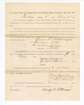 1886 May 7: Voucher, to George W. Rothmeyer, witness; includes cost of service as witness; S.A. Williams, deputy clerk; Stephen Wheeler, clerk; A.S. Vandeventer, chief deputy; John Carroll, U.S. marshal